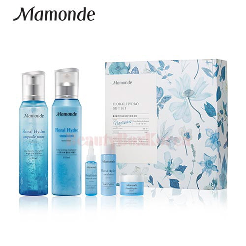 MAMONDE Floral Hydro Ampoule Toner & Emulsion Set [Monthly Limited -May 2018]